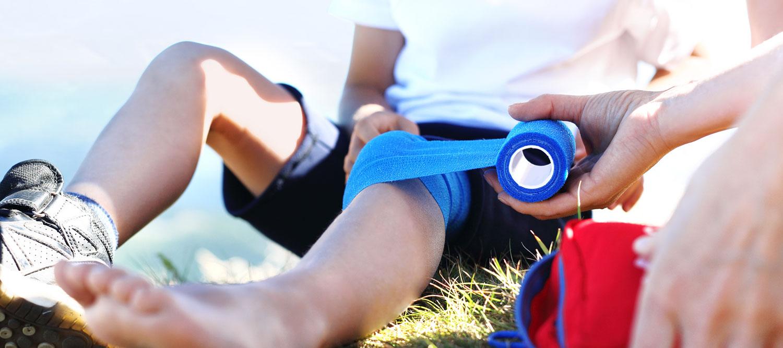 fasciatura al ginocchio